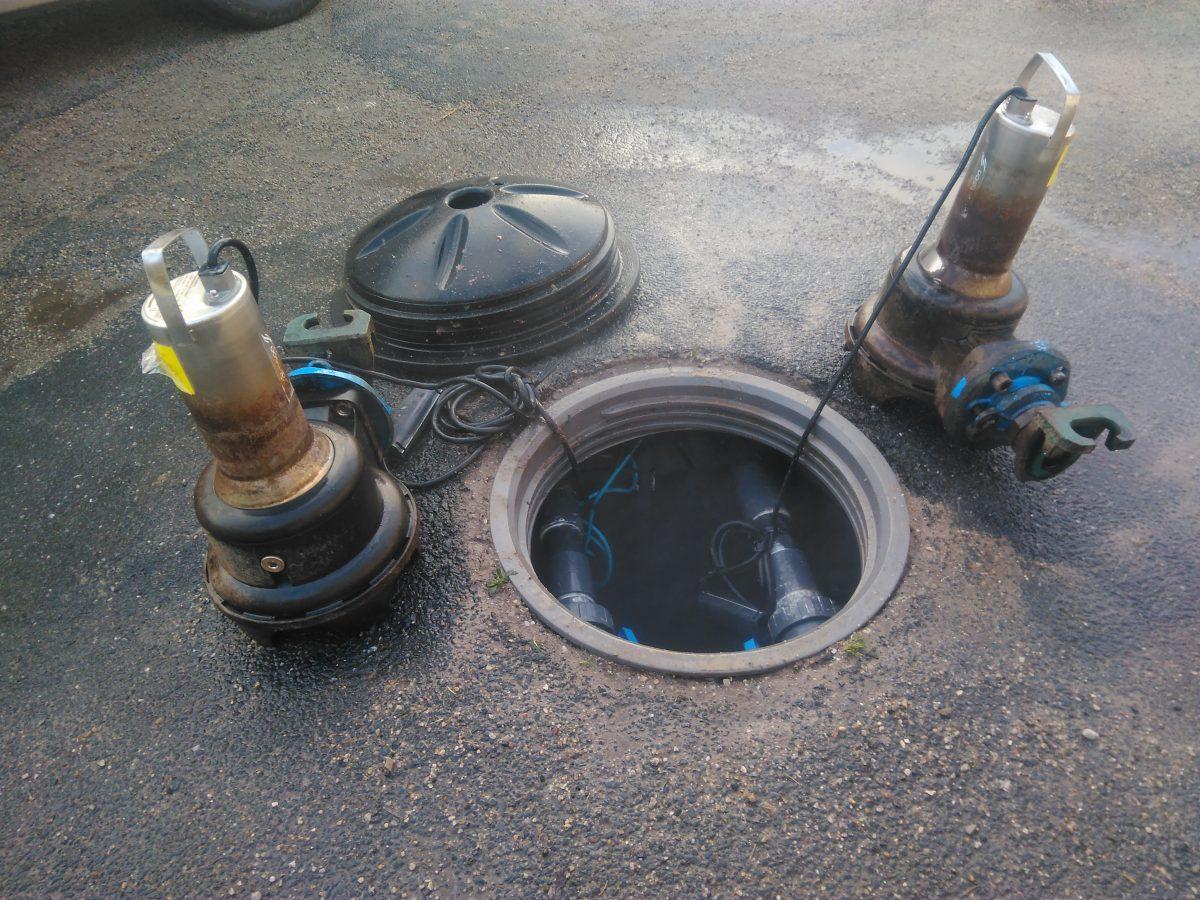 Pompes eau chargée